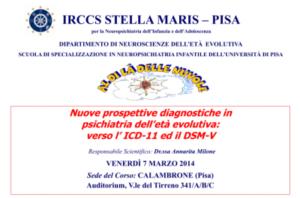 Nuove prospettive diagnostiche in psichiatria dell'età evolutiva: verso l'ICD-11 ed il DSM-V @ Auditorium, Viale del Tirreno 341 A/B/C | Calambrone | Toscana | Italia