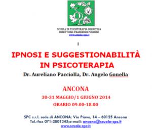 Ipnosi e suggestionabilità in psicoterapia (corso ECM) @ Scuola di Psicoterapia Cognitiva S.r.L. sede periferica di Ancona | Ancona | Marche | Italia