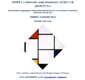 MMPI-2 e interviste semi-strutturate SCID I e II (DSM IVTr) @ c/o Associazione Dopolavoro Ferroviario Verona | Verona | Veneto | Italia