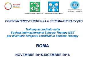 ROMA -  CORSO INTENSIVO 2016 SULLA SCHEMA-THERAPY (ST) Training accreditato dalla Società Internazionale di Schema Therapy ISST per diventare Terapeuti certificati in Schema Therapy @ Scuola di Psicoterapia Cognitiva S.r.L. | Roma | Lazio | Italia