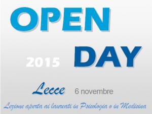 open day 6 novembre
