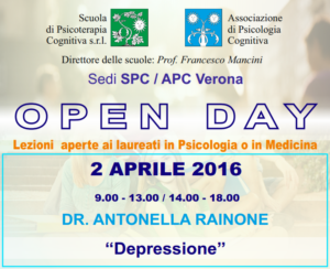 Open Day - Verona @ Scuola di Psicoterapia Cognitiva S.r.L. sede di Verona | Verona | Veneto | Italia