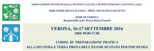 Verona, corso di preparazione pratica alla seconda e terza prova dell'Esame di Stato per Psicologi @ c/o DLF dopolavoro ferroviario  | Verona | Veneto | Italia