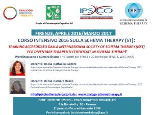 FIRENZE, CORSO INTENSIVO 2016 SULLA SCHEMA-THERAPY (ST)  Training accreditato dalla Società Internazionale di Schema Therapy ISST per diventare Terapeuti certificati in Schema Therapy @ c/o Istituto  IPSICO | Firenze | Toscana | Italia