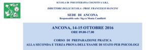 Ancona, corso di preparazione pratica alla seconda e terza prova dell'Esame di Stato per Psicologi @ Scuola di Psicoterapia Cognitiva S.r.L. sede di Ancona   Ancona   Marche   Italia
