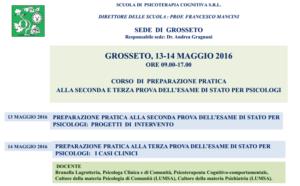 Grosseto, corso di preparazione pratica alla seconda e terza prova dell'Esame di Stato per Psicologi @ Scuola di Psicoterapia S.r.L. sede di Grosseto | Grosseto | Toscana | Italia