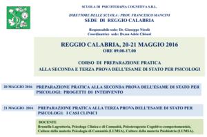 Reggio Calabria, corso di preparazione pratica alla seconda e terza prova dell'Esame di Stato per Psicologi @ Scuola di Psicoterapia Cognitiva S.r.L sede di Reggio Calabria   Reggio Calabria   Calabria   Italia