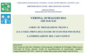 Verona, corso di preparazione pratica alla terza prova dell'esame di stato per psicologi @ c/o DLF dopolavoro ferroviario  | Verona | Veneto | Italia