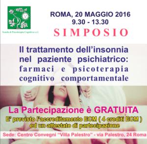 Roma, simposio Il trattamento dell'insonnia nel paziente psichiatrico @ Centro Convegni  | Roma | Lazio | Italia
