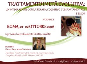 Trattamento in età evolutiva: un'integrazione tra terapia cognitivo-comportamentale ed EMDR (corso ECM) @ Scuola di Psicoterapia Cognitiva S.r.L. | Roma | Lazio | Italia