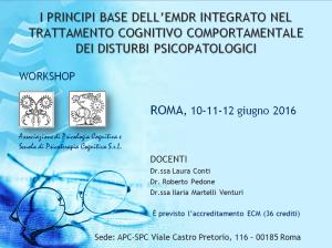 I principi base dell'EMDR integrato nel trattamento cognitivo comportamentale dei disturbi psicopatologici (corso ECM) @ Scuola di Psicoterapia Cognitiva S.r.L. | Roma | Lazio | Italia