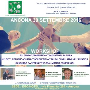 L'alleanza terapeutica come fattore di cura nei disturbi dell'adulto conseguenti a traumi cumulativi nell'infanzia @ Ego hotel | Ancona | Marche | Italia