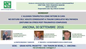L'alleanza terapeutica come fattore di cura nei disturbi dell'adulto conseguenti a traumi cumulativi nell'infanzia @ c/o Grand Hotel Passetto | Ancona | Italia
