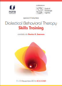 Dialectical behavioral therapy - skills training (corso ECM) @ Hotel NH Blogna de la Gare | Bologna | Emilia-Romagna | Italia