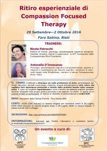 Terapia focalizzata sulla compassione - ritiro esperienziale (corso ECM) @ Monastero delle Clarisse Eremite | Fara In Sabina | Lazio | Italia