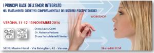 I principi base dell'EMDR integrato nel trattamento cognitivo comportamentale dei disturbi psicopatologici (corso ECM) @ c/o Maxim Hotel    Verona   Veneto   Italia