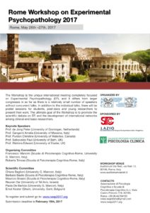 Rome Workshop on Experimental Psychopathology 2017 @ AUDITORIUM VIA RIETI  | Roma | Lazio | Italia