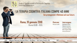 Roma , La terapia cognitiva italiana compie 40 anni @ c/o Biblioteca nazionale centrale di Roma - Aula magna | Roma | Lazio | Italia