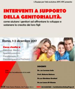 Roma, Interventi di supporto della genitorialità (corso ECM) @ Scuola di Psicoterapia Cognitiva S.r.L. sede di Roma | Roma | Lazio | Italia