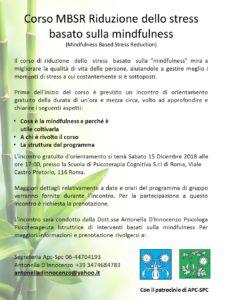 Roma, Corso MBSR Riduzione dello stress basato sulla mindfulness @ Scuola di Psicoterapia Cognitiva S.r.L. sede di Roma   Roma   Lazio   Italia