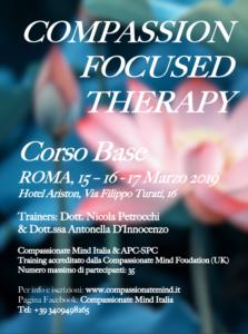 Roma, Compassion focused therapy - corso base @ Hotel Ariston