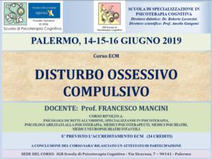 Palermo, Disturbo Ossessivo Compulsivo (corso ECM) @ I.G.B. Scuola di Psicoterapia Cognitiva S.r.L. sede di Palermo