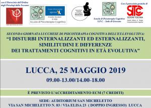 Lucca, I disturbi internalizzanti ed esternalizzanti, similitudini e differenze dei trattamenti cognitivi in età evolutiva (corso ECM) @ c/o Auditorium San Micheletto