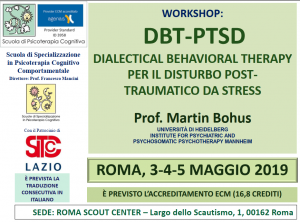 Roma, DBT-PTSD dialectical behavioral therapy per il disturbo post-traumatico da stress (corso ECM) @ c/o Scout Center