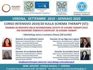 Verona, Corso intensivo 2019/20 sulla Schema Therapy (ST) - (corso ECM) @ Scuola di Psicoterapia Cognitiva S.r.L. sede di Verona