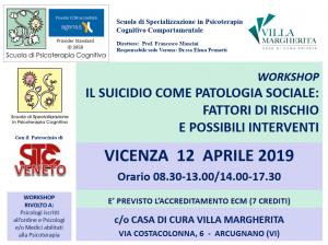 Vicenza, Il suicidio come patologia sociale: fattori di rischio e possibili interventi (corso ECM) @ c/o Casa di Cura Villa Margherita