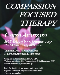 Roma, Compassion Focused Therapy (corso avanzato) @ c/o Hotel Ariston