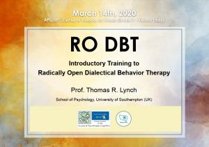 Verona, RO DBT Introductory Training to Radically Open Dialectical Behavior Therapy @ Fondazione Nigrizia, Vicolo Pozzo 1 – Verona