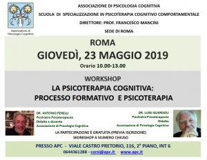Roma, La Psicoterapia Cognitiva: processo formativo e psicoterapia @ Associazione di Psicologia Cognitiva