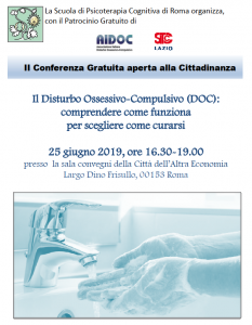 Roma, Il Disturbo Ossessivo-Compulsivo (DOC): comprendere come funziona per scegliere come curarsi @ c/o Sala Convegni della Città dell'Altra Economia