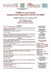 Reggio Calabria, Il DSM-5 in età evolutiva: inquadramento diagnostico tramite la K-SADS @ c/o Auditorium SS Crocefisso