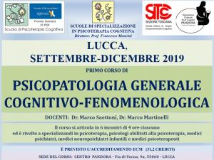 Lucca, Psicopatologia generale cognitivo-comportamentale (corso ECM) @ c/o Centro Pandora