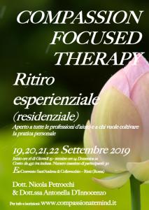 Rieti, Compassion Focused Therapy - ritiro esperienziale (residenziale) @ ex Convento Sant'Andrea di Collevecchio