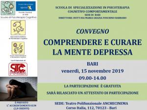 Bari, Comprendere e curare la mente depressa (corso ECM) @ c/o Teatro Polifunzionale ANCHECINEMA