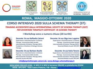 Roma, Corso intensivo 2020 sulla Schema Therapy (ST) - (corso ECM) @ Scuola di Psicoterapia Cognitiva S.r.L. sede di Roma