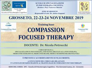 Grosseto, Compassion Focused Therapy - training base (corso ECM) @ Scuola di Psicoterapia Cognitiva S.r.L. sede di Grosseto