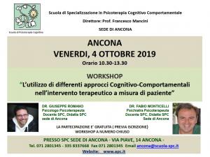 Ancona, L'utilizzo di differenti approcci Cognitivo-Comportamentali nell'intervento terapeutico a misura di paziente @ Scuola di Psicoterapia Cognitiva S.r.L. sede di Ancona