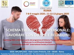 Roma, Schema Therapy Interpersonale: lavorare con coppie e relazioni (corso ECM) @ Associazione di Psicologia Cognitiva