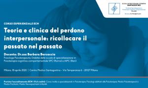 Roma, Teoria e clinica del perdono interpersonale: ricollocare il passato nel passato (corso ECM) @ Scuola di Psicoterapia Cognitiva S.r.L. sede di Roma