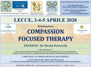 Lecce, Compassion Focused Therapy (corso ECM) @ Associazione di Psicologia Cognitiva