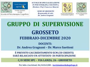 Grosseto, Gruppo di supervisione (corso ECM) @ Scuola di Psicoterapia Cognitiva S.r.L. sede di Grosseto