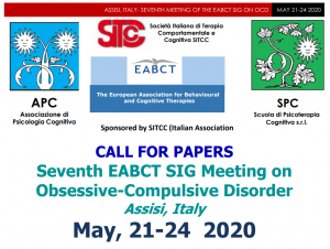 CALL FOR PAPERS FOR THE SEVENTH EABCT MEETING ON OCD 2020 @ c/o La Cittadella