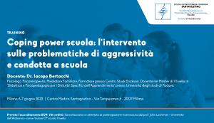 Milano, Coping Power Scuola: l'intervento sulle problematiche di aggressività e condotta a scuola (corso ECM) @ c/o Centro Medico Santagostino