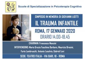 Roma, Il trauma infantile - simposio in memoria di Giovanni Liotti @ c/o Teatro Italia