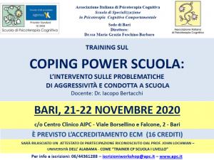 Bari, Coping Power Scuola: l'intervento sulle problematiche di aggressività e condotta a scuola (corso ECM) @ Centro Clinico AIPC