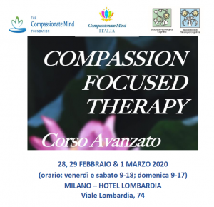 Milano, Compassion Focused Therapy - corso avanzato (corso ECM) @ Hotel Lombardia